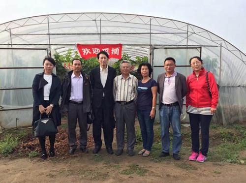 日本专家和沈阳农业大学专家